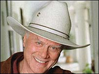 Larry Hagman played JR Ewing