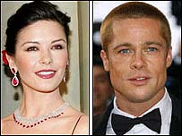 Catherine Zeta Jones and Brad Pitt