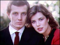 Caroline with Stefano Casiraghi