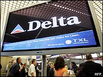 Delta information screen