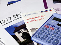 House details, mortgage leaflet and calculator