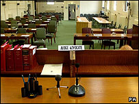 Military courtroom in Colchester
