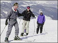 Princes Charles, William and Harry in 2000