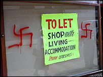 Racist graffiti in Porthmadog, 2003