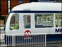 Video image of a Supertram