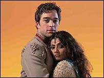 Hadley Fraser as Ashton Pelham-Martyn and Gayartri Iyer as Princess Anjuli