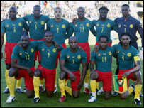 Cameroon national team at Tunisia 2004