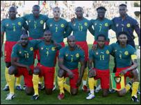 Cameroon national team at Tunisia 2004