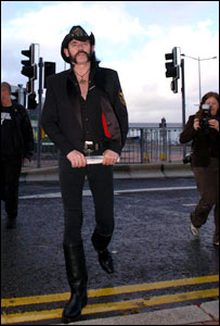 Lemmy arriving at assembly