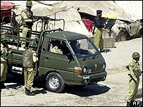 Police guard Quetta during the strike