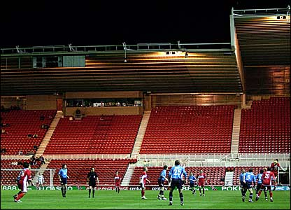 Empty seats at the Riverside