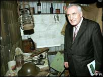 Bertie Ahern pictured on a visit to the Somme heritage centre in Newtownards