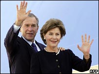 George and Laura Bush leave for Mar Del Plata, Argentina