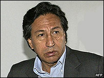 Alejandro Toledo, presidente de Perú