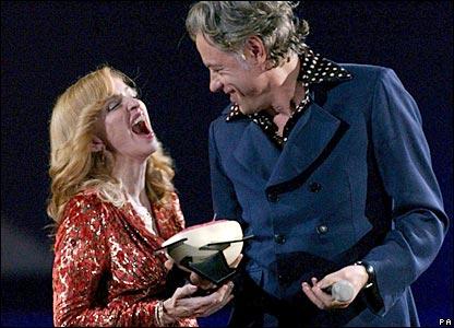 Madonna and Bob Geldof