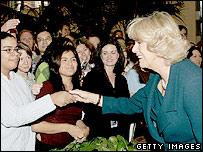 Duchess of Cornwall greets well wishers