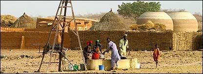 Aldeanos en Nigeria
