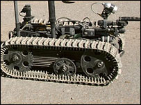 remote-controlled bomb-disarming robot