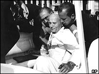 Pope John Paul II wounded, 13 May 81