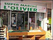 Djaiziris' supermarket in Evry