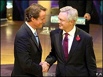 David Cameron and David Davis