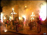 Праздник огней в английском Сассексе