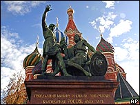 Moscow statue of Minin and Pozharsky