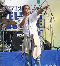 Amrit Gurung on stage