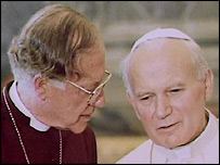Pope John Paul II and Archbishop of Canterbury
