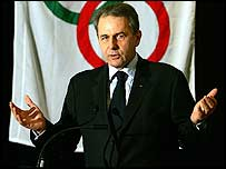 IOC chief Jacques Rogge