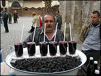 Syrian drinks seller