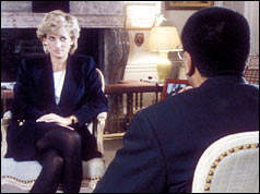 Diana being interviewed by Martin Bashir