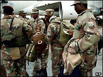 South African peacekeepers in Burundi