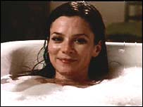 Anna Friel starring in an advert for the 3 mobile phone network