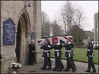 Corporal David Williams' funeral
