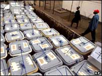 Ballot boxes already counted in Zimbabwe
