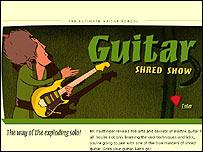 Guitar Shred Show web site