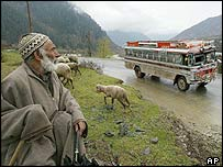 Bus in Kashmir