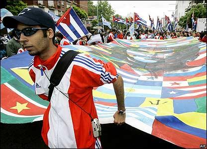 Protestas en Mar del Plata, sede de la Cumbre de las Américas