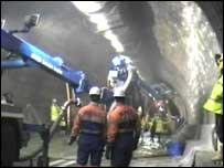 Work in the Clyde Tunnel
