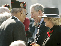 Charles and Camilla meet US war veterans