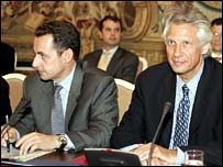 Nicolas Sarkozy and Dominique de Villepin