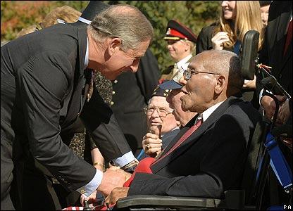 Charles with veteran