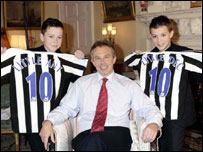 Little Ant & Dec with Tony Blair