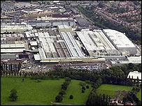 Aerial view of Longbridge