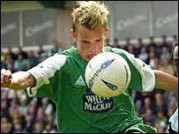 Dean Shiels joined Hibs from Arsenal