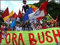 Protestas contra el presidente de EE.UU.