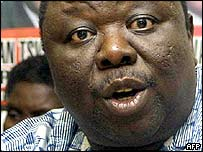 Movement for Democratic Change leader Morgan Tsvangirai