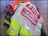Incident commander's jacket