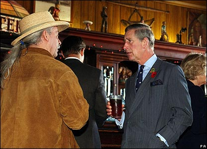 Prince Charles in pub